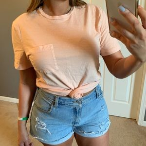 Abercrombie & Fitch peach t shirt
